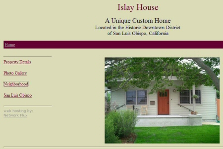 Screenshot of the website of www.islayhouse.com