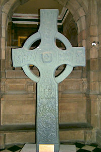 Picture of a replica of a Celtic cross