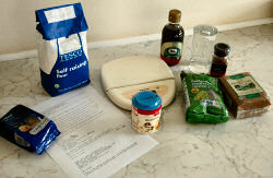 Picture of collected baking ingredients