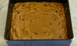 Picture of a cake ready for the oven