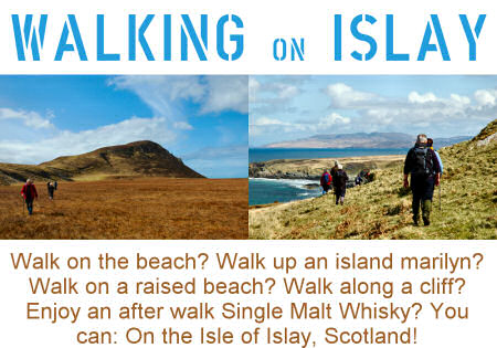 Picture of the design for the 'Walking on Islay' t-shirt