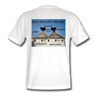 Picture of a t-shirt with an 'Islay Distillery Tour 2007' print
