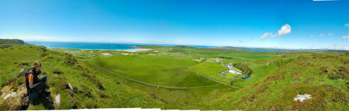 Picture of a panoramic view over the western side of an island (Islay)