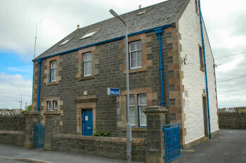 Picture of a police station in an old building (Port Ellen police station on Islay)