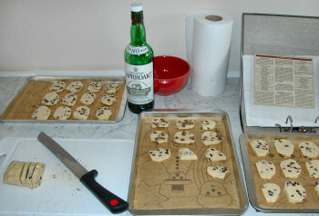 Picture of shortbread being prepared for baking