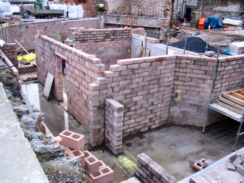 Picture of a basement being built