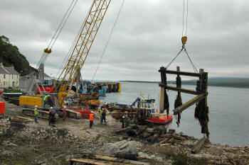 Picture of demolition work at an old pier