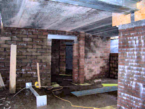 Picture of a basement area under construction