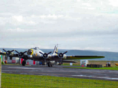 Picture of the Liberty Belle Boeing B17