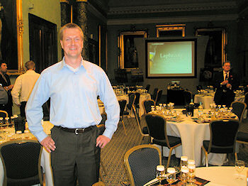 Picture of Armin Grewe standing in the venue for the Laphroaig Masterclass