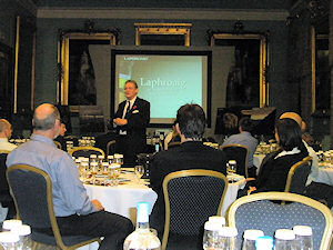 Picture of Robert Hicks presenting the Laphroaig Masterclass