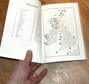 Picture of a map inside a book