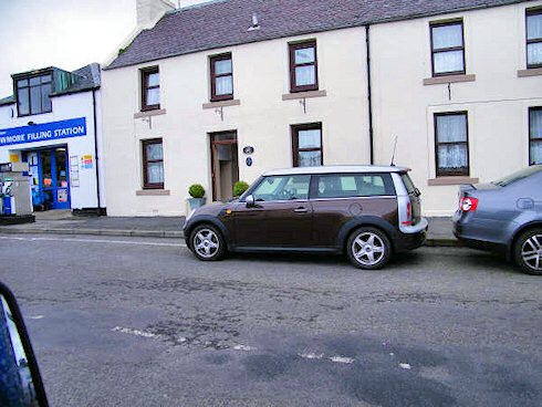 Picture of a Mini Clubman parked in a village road