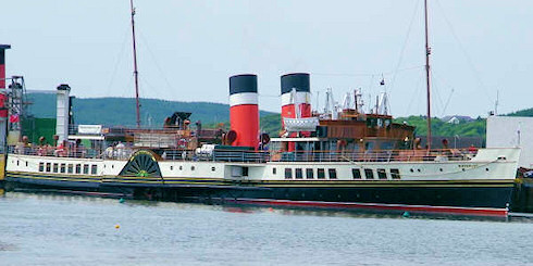 Picture of a paddle steamer