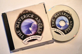 Picture of a CD case and a CD of the Maverick Angels
