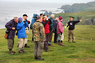 Picture of people on a guided birdwatching walk