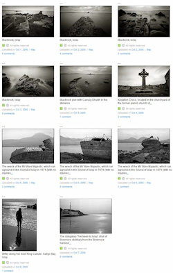 Screenshot of a set of black and white pictures on Flickr