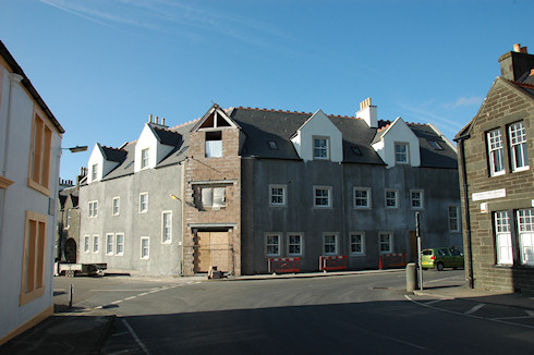 Picture of the under construction Islay Hotel in Port Ellen
