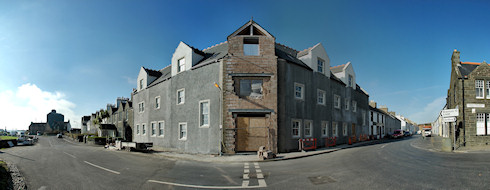 Panoramic picture of an under construction hotel building