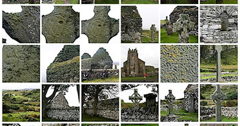 Screenshot of thumbnails of Celtic Cross pictures
