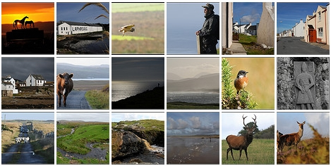 Screenshot of a picture collection of Islay pictures