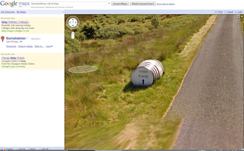 Screenshot of a Google Streetview picture of an Other Places sign