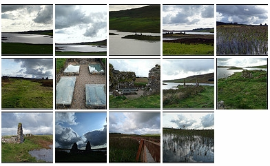 Screenshot of a preview of a Flickr picture set of Finlaggan on Islay
