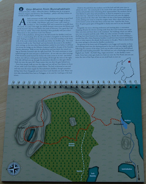 Picture of a sample walk from an Islay Walks booklet
