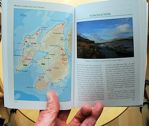 Picture of the start of the Islay section in a walking book