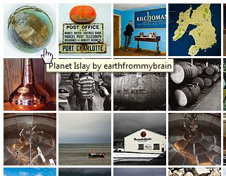 Screenshot of an Islay picture set on Flickr
