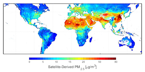 Graphic of global air pollution
