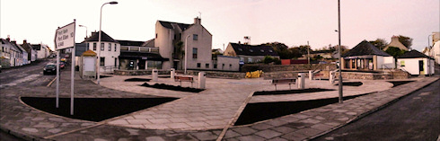 Picture of a panoramic view over Morrison Square in Bowmore