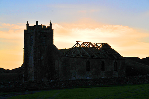 Picture of the ruin of Kilchoman Church on Islay