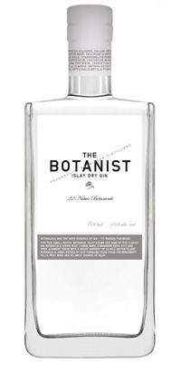 Picture of the The Botanist Islay gin bottle, a clear bottle