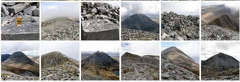 Screenshot of thumbnails in a picture gallery of the Paps of Jura