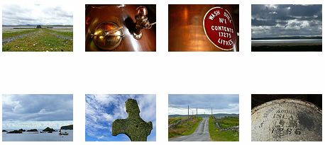 Screenshot of thumbnail pictures in a gallery of Islay pictures