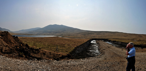 Panoramic view of the area where the dam for the Inver Hydro project is being built