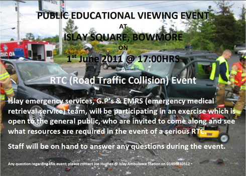 Picture of a flyer for a Road Traffic Collision event