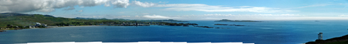 Tiny picture of a panoramic view over Port Ellen and Texa