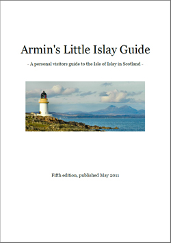 Screenshot of the cover of Armin's Little Islay Guide 5th edition