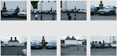 Screenshot of 8 gallery pictures of BMW Z4 at Ardbeg