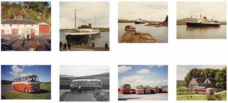 Screenshot of pictures of ships and coaches in a Flickr stream