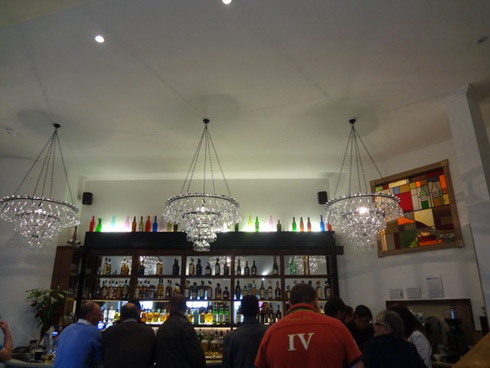 Picture of the bar in the islay hotel from further back