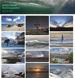 Screenshot of the James Deane Photography website homepage