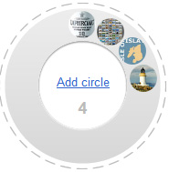 Screenshot of a Google+ circle
