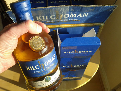 Picture of bottle no.266 of the Kilchoman 2006 vintage release Islay single malt whisky