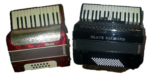 Picture of two accordions