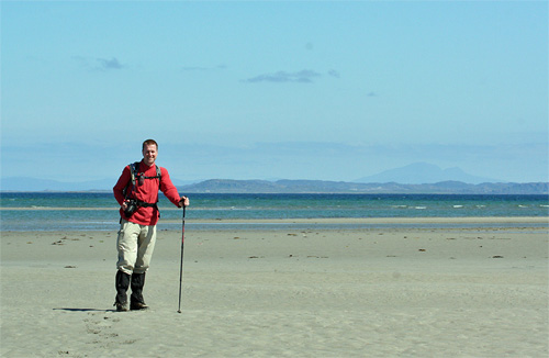 Picture of Armin on a beach on Islay