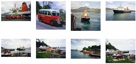 Screenshot of a collection of thumbnails with old coaches and ferries