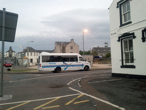 Picture of the Scottish Routes minibus in Bowmore on Islay